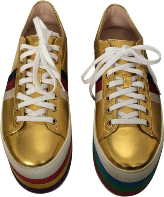 Item - Gold Peggy Platform 474538 Sneakers Size EU 38 (Approx. US 8) Regular (M, B)