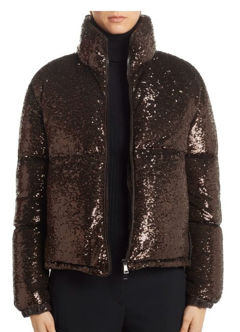 Item - Brown Rimac Sequin Quilted Down Puffer Jacket Coat Size 4 (S)