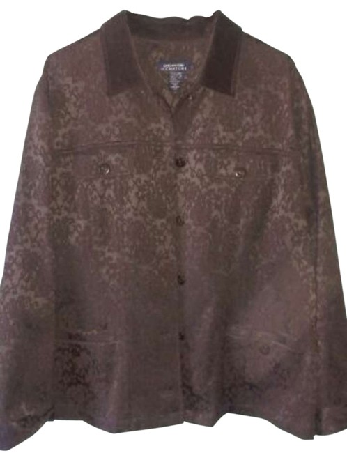 Jones New York Floral Brown Blazer