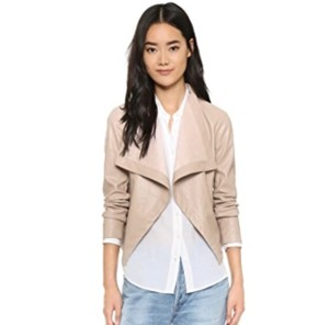 BB Dakota Beige Leather Jacket