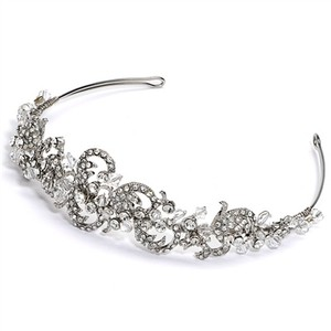 Rachelle Vintage Austrian Crystal And Rhinestone Swirl Wedding Bridal Headband