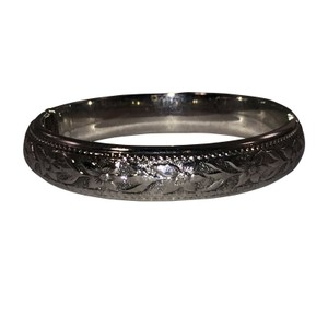Whiting & Davis Whiting and Davis Silver Tone Floral Design Bracelet