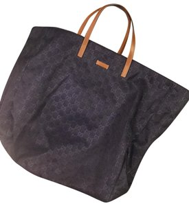 Gucci Tote in navy and brown