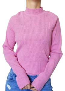 Lands' End Ribbed Mock Neck Longsleeve Cotton Stretchy Sweater