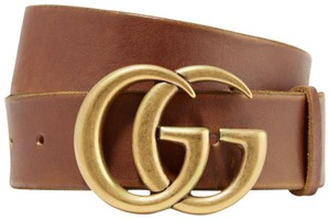 Gucci 409416 Size 80cm/32in Leather belt with Double G buckle