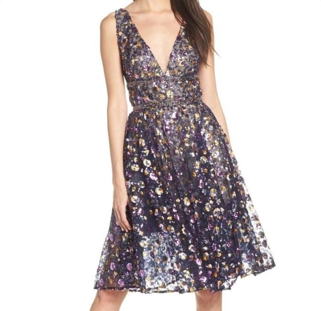 Item - Multicolor Barbara Flared Mid-length Formal Dress Size 2 (XS)