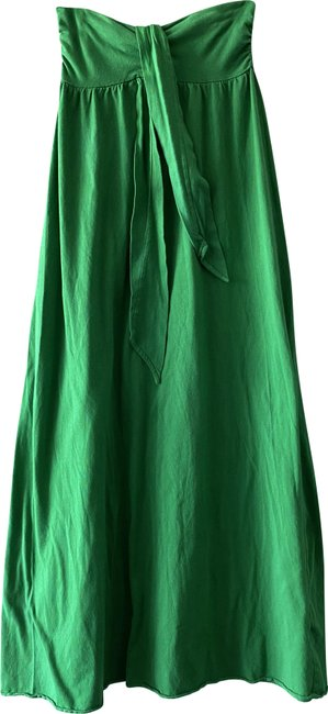 Item - Green XS Neck Tie Strapless Built-in Bra Long Casual Maxi Dress Size 2 (XS)