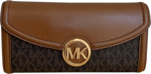 Michael Kors $200 NWT Fulton Flap Large Continental Leather Wallet