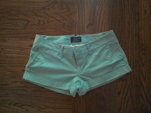 American Eagle Outfitters Mini Seafoam Mint Cuffed Shorts green
