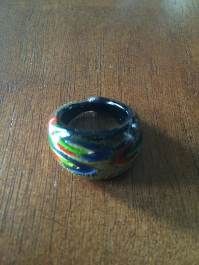 Other Handmade Multicolored Murano Glass Ring Size 7