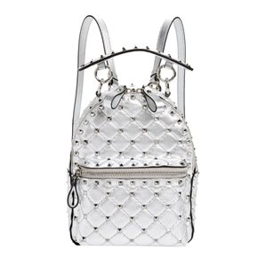 Valentino Leather Studded Backpack
