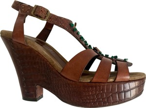 Henry Beguelin 55% off cocoa brown Platforms