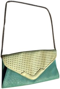 Charming Charlie Two Tone Purse Vintage Colored Pastel green and yellow Clutch