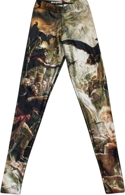 Item - Yellow Call Of Napoleon French Painting Leggings Size 2 (XS, 26)