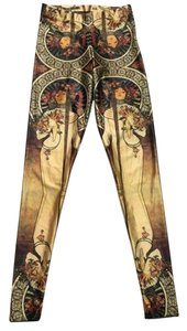 Blackmilk Gold Red Leggings