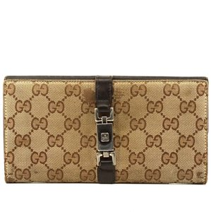 Gucci Auth Gucci Jackie Gg Long Wallet #2856G25