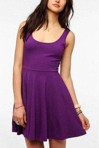 Sparkle & Fade short dress Purple Plum Skater A-line Urban Outfitters on Tradesy