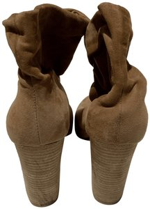 Chinese Laundry Peep Toe Cute Fun Camel Boots