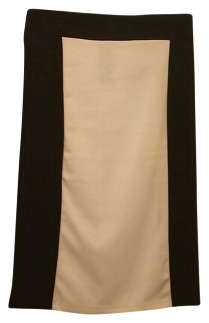Forever 21 White And Black Pencil Skirt color block