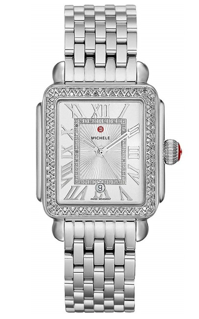 Item - Silver Deco Madison Stainless Diamond Dial Mww06t000163 Watch