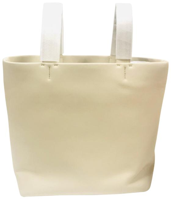 Item - Medium Simple In Leather Ivory Tote