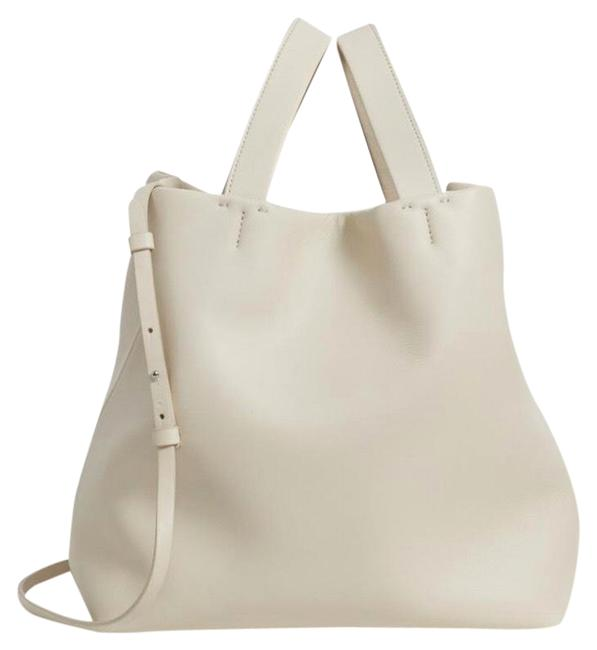 Item - Medium Simple In Ivory Leather Tote