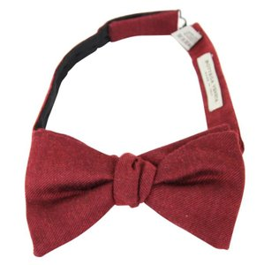 Bottega Veneta Red Men's Silk Cashmere 270827 6100 Tie/Bowtie