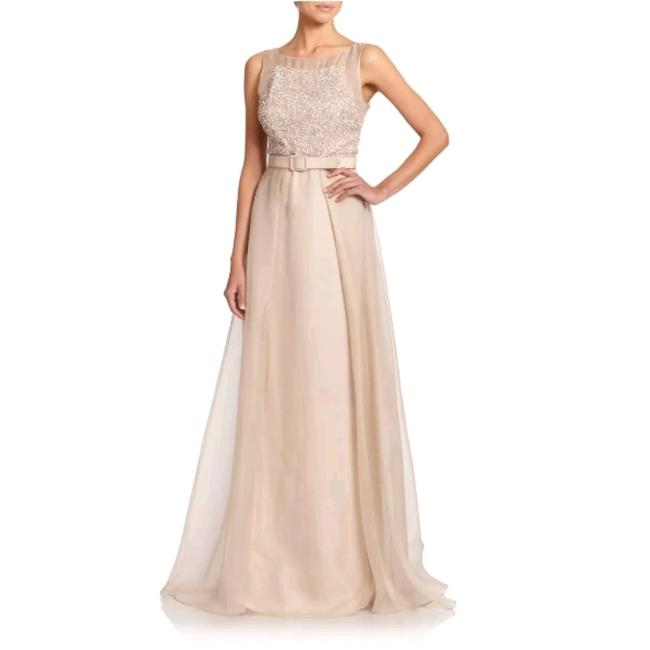 Item - Beige Long Formal Dress Size 10 (M)