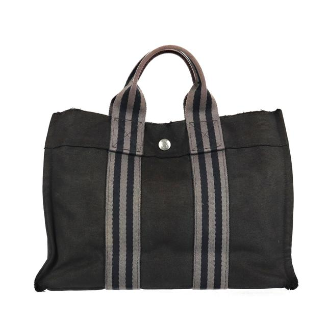 Item - Fourre Tout Pm Black and Gray Canvas Tote