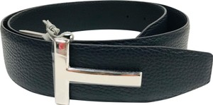 Tom Ford T buckle belt black