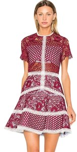 Alexis Lace Party Night Out Mosaic Dress