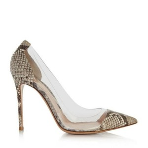 Gianvito Rossi Snakeskin Heels Pointed Toe PVC Pumps