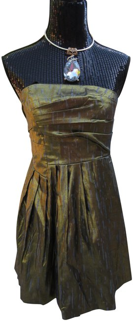 Item - Gold New Strapless Short Cocktail Dress Size 6 (S)