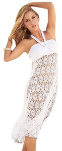 White Maxi Skirt Beach Coverups
