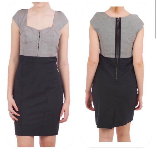 Item - Navy Gray Two Tone Bustier Short Work/Office Dress Size 2 (XS)
