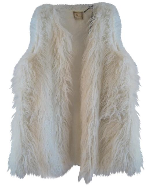 Item - Ivory North Faux Fur Large Vest Size 12 (L)