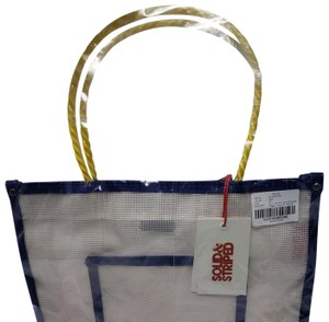 Solid & Striped Mesh Handbag Cream Tote in CLEAR