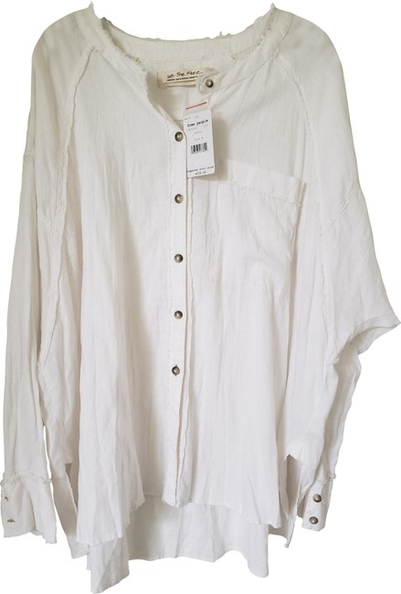 Item - Cream Keep It Simple Button-down Top Size 8 (M)