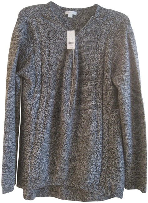 Item - Marled Knit Black and White Sweater