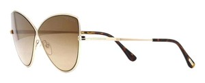 Tom Ford Tom Ford Elise-02 Tf569 28g Gold Brown Sunglasses New