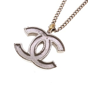 Chanel Chanel Necklace Coco Mark Silver Color 02C 2002 Cruise Collection