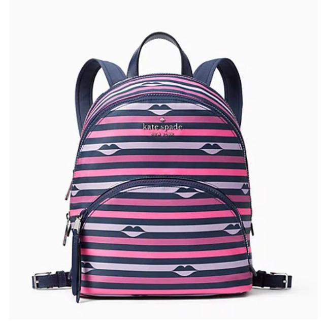 Item - Karissa Medium 3 Chamber Lips Multicolor Nylon Backpack