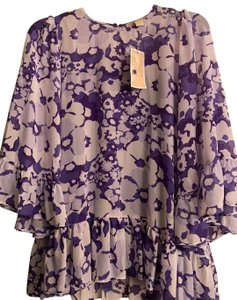 Michael Kors Collection Top Purple and White