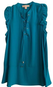 Michael Kors Collection Top Turquoise