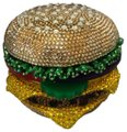Judith Leiber Burger Hamburger Minaudiere Novelty MULTI Clutch