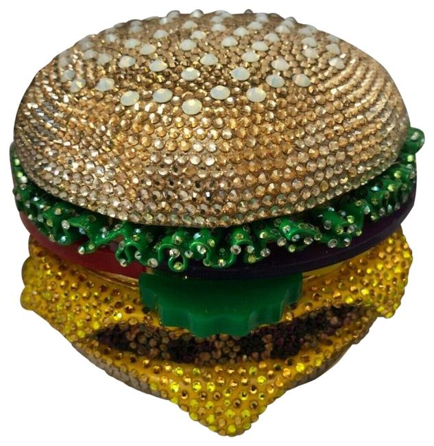 Item - Hamburger Minaudiere Multicolor Beaded Clutch