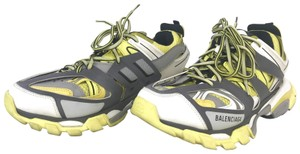 Balenciaga Leather Sneakers Track Yellow Athletic