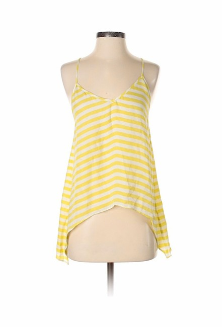 Item - Yellow Striped Silk Camisole Tunic Camisol Blouse Size 10 (M)