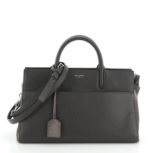 Saint Laurent Rive Suede Tote in Gray