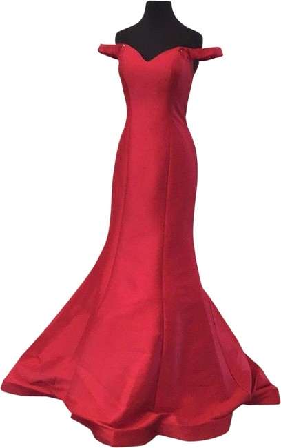 Jovani Red Jvn3245a Long Formal Dress Size 2 (XS) Jovani Red Jvn3245a Long Formal Dress Size 2 (XS) Image 1